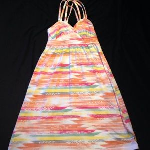 Tribal Print Cris Crossed Back Dress
