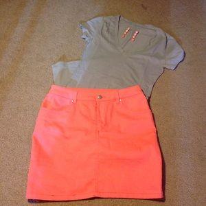 H&M Dresses & Skirts - Neon Pink Mini Skirt