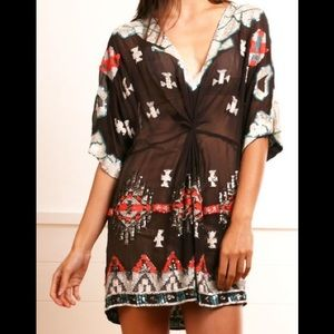 All Saints Sequined Aztec Chariot Dress/Tunic