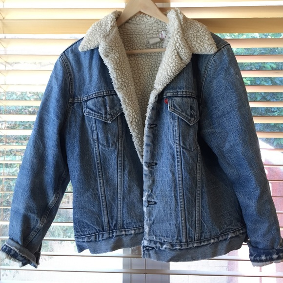 Vintage - Vintage Levis fleece lined Denim Jacket from L's closet ...