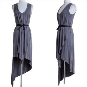 XX The LYNDE sleeveless asym dress - GUN METAL