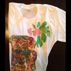 "American Apparel Tops - ""Spanish Sugar Skull ""hand drawn screened shirt."