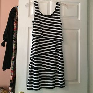 Black and white striped dress✨