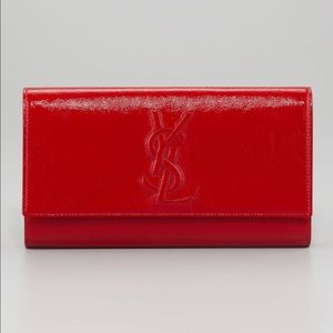 Yes Saint Laurent Belle du Jour Clutch Bag Red NWT