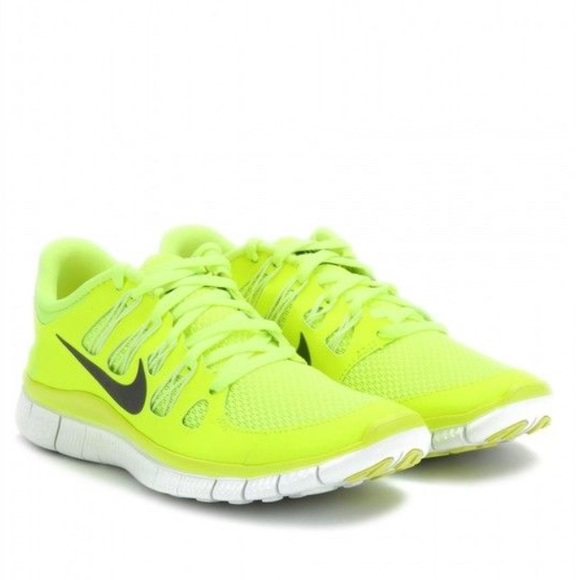 Women's Nike free 5.0 neon/yellow running shoes