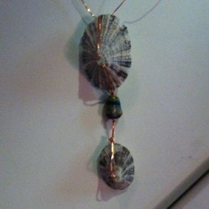 handmade by me Jewelry - Handmade wire and shell necklace