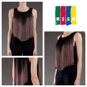 MSGM Tops - MSGM 💥 4x HP Ombré Fringe & Lace Top NWT💥
