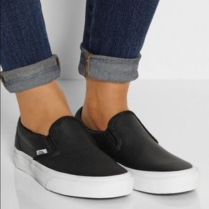 vans leather slip on outfit
