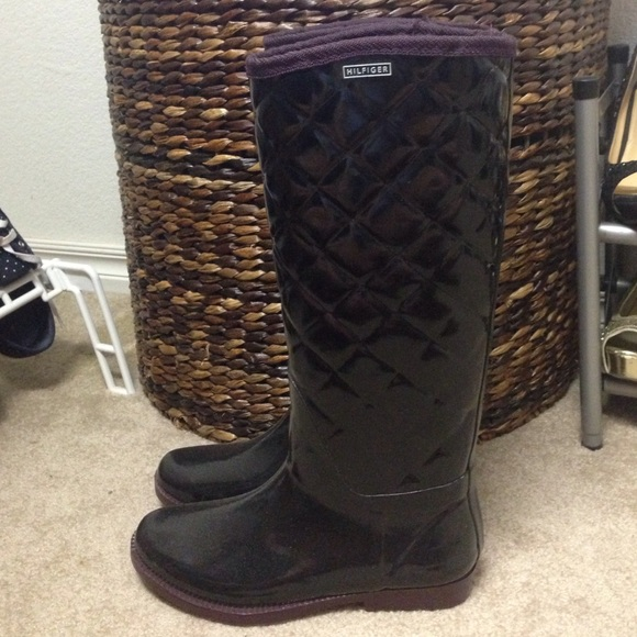 50% off Tommy Hilfiger Shoes - Tommy Hilfiger quilted rain boots ... : quilted rainboots - Adamdwight.com