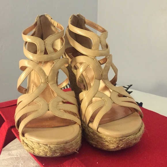 88 Off Bcbgeneration Shoes Bcbg Generation Nude Wedges