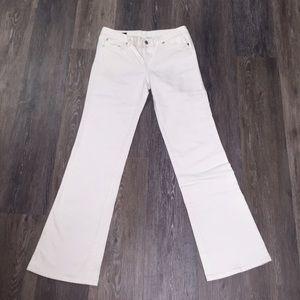 Club Monaco white denim jeans