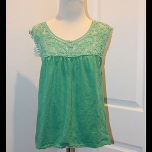 Ava & Grace Tops - Pre-loved cute green top