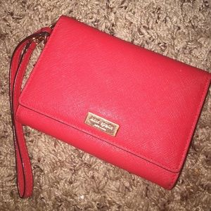Kate spade red leather wallet