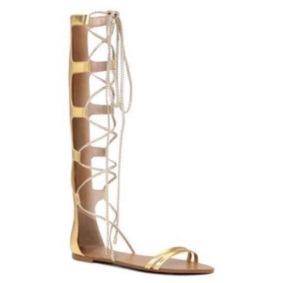 ALDO Shoes - Aldo Gold gladiator flat sandals (umarelle)