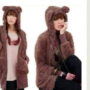 $31 Sale - The BERRY Soft Bear Plush Hoodie