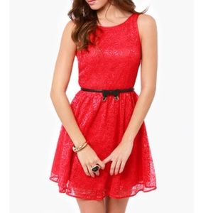 Jack by BB Dakota Red Lace Azure Dress