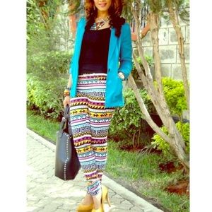 Tribal Print Pants by Divided