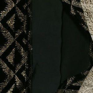 ASOS Tops - Black & gold glitter turtle neck crop top