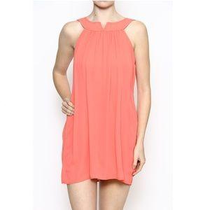 Dresses & Skirts - Sleeveless Coral Chiffon Dress