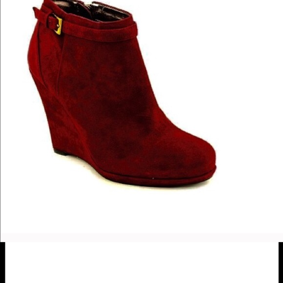 79 dkny shoes dkny burgundy wedge boots from jm s