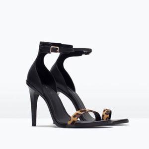 ZARA Ankle Strap Heels