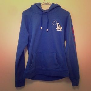PINK Victoria's Secret Jackets & Coats - Rhinestoned Dodgers LA Hoodie