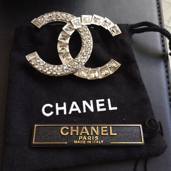listing sold authentic channel brooch poshmark chanel m jewelry