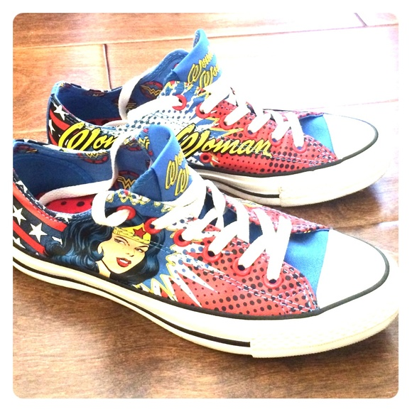 a0b8ad6a4146 Converse Shoes - 🎉 Rare DC Converse Wonder Woman Low Tops 🎉