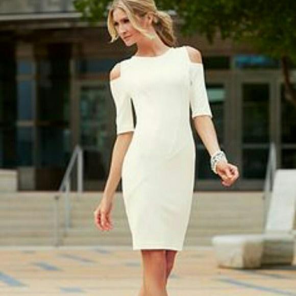 1b39c020349 Dresses   Skirts - NEW Venus Cold Shoulder Dress White