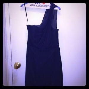 Alvina Valenta Dresses & Skirts - Navy Blue One-Shoulder Gown