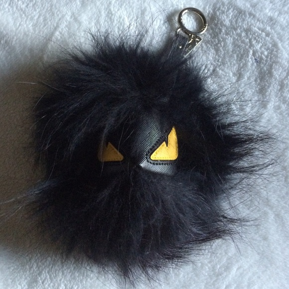FENDI Accessories - Black Fur Ball Keychain 9e936c654