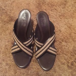 Cute two tone sandals