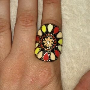 Bright floral ring