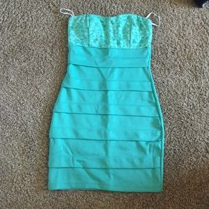 Seafoam green short dress