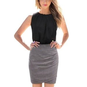 Tops - Black Pleated Blouse