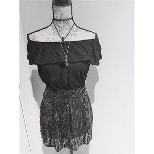 ALLOY Dresses & Skirts - NWOT Black Sequin Mini ♠️