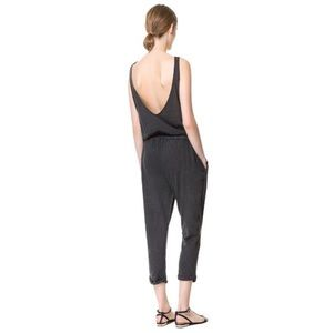 Zara Other - Zara W & B Collection Faded Gray Jumpsuit