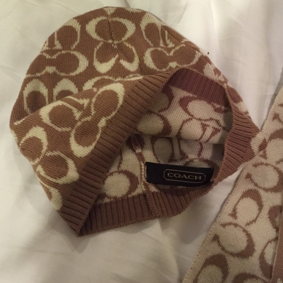 91 coach accessories authentic coach scarf and hat