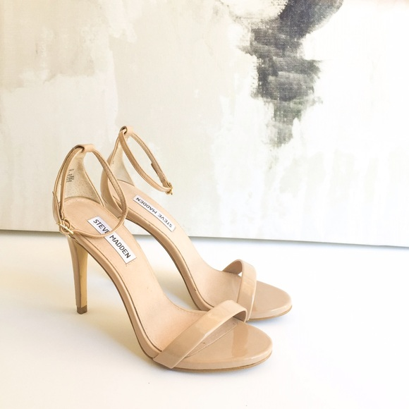 Steve Madden Nude Stecy Patent Leather Heel Sz 7