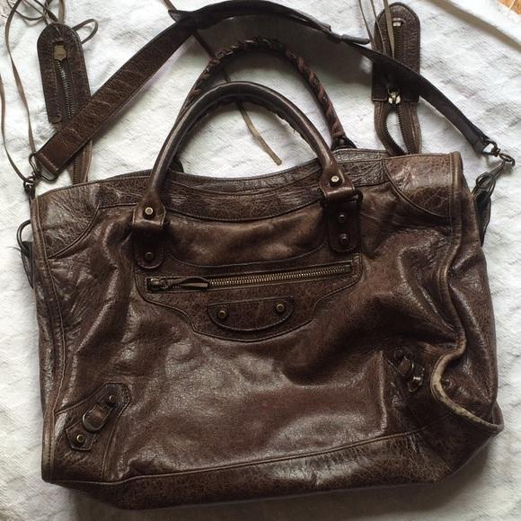 db394f8dbada Balenciaga Handbags - Brown Leather Balenciaga Large City Bag