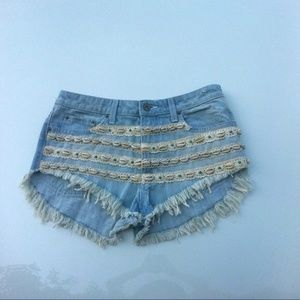 LF Stores Denim - LF Stores CARMAR 'SHELLY' DENIM CUT-OFFS -27- NWT