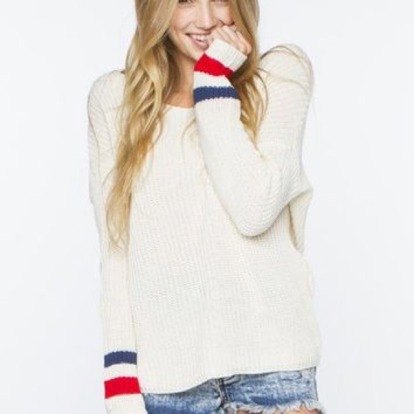 80% off Brandy Melville Sweaters - Brandy Melville red white blue ...