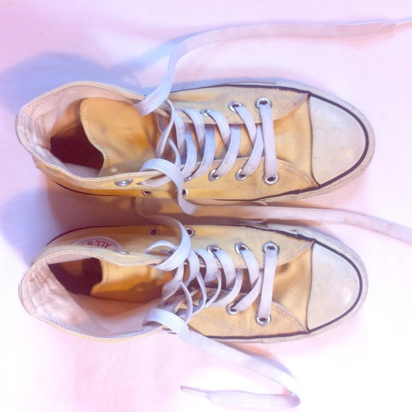 3d0ef10ca58 Converse Shoes - Converse All Star Pastel Yellow High Tops