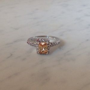 Halo Gemstone Ring