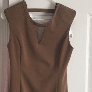 Forever 21 Dresses & Skirts - F21 camel structured dress