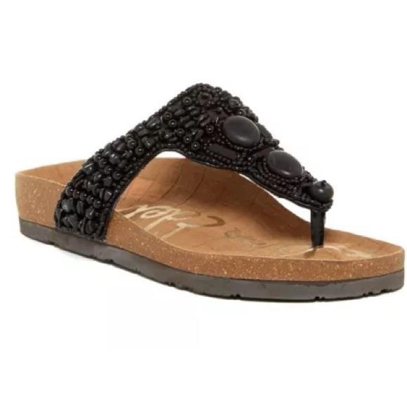 Sam Thong Edelman scarpe   Annalee Tstrap Beaded Thong Sam Sandalo Blk   Poshmark 5be389