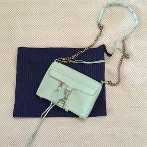 Rebecca Minkoff Mini MAC// mint cross body bag