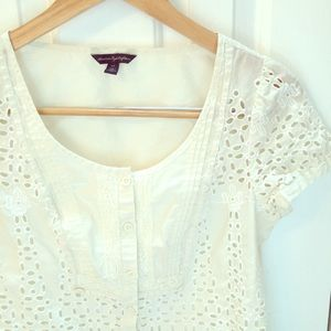 Eyelet lace top
