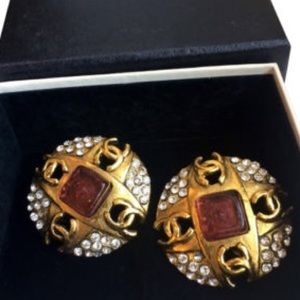 Authentic Vintage Chanel Clip Earrings