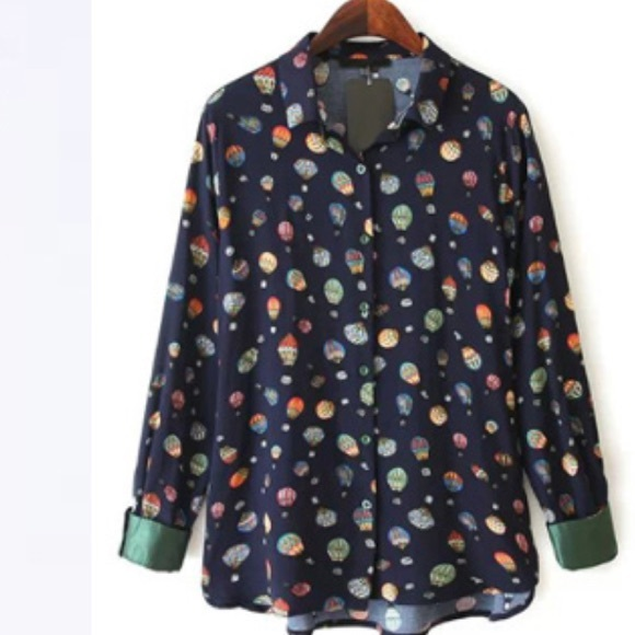 a04fc3b84422e1 Zara hot air balloon print blouse Xs euc. M_55a9404ee1d65f6307004031
